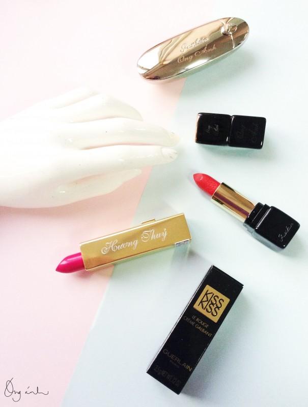 Guerlain, Lipsticks, Guerlain Rouge G, Guerlain Kiss Kiss