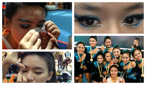 cheerleading, cheerleaders, PINKY squad, Óng Ánh, trang điểm, làm đẹp, tóc