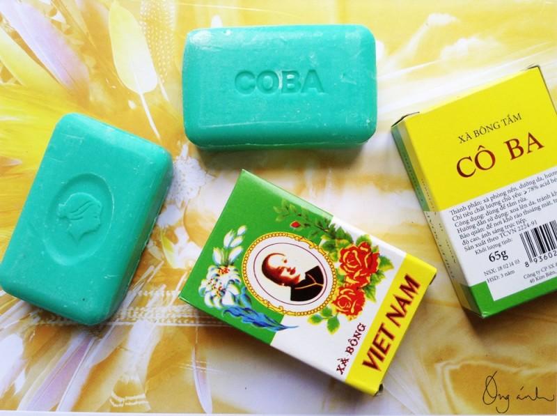 xà bông Cô Ba, CoBa savon, xà phòng Việt Nam, made in Vietnam, Óng Ánh